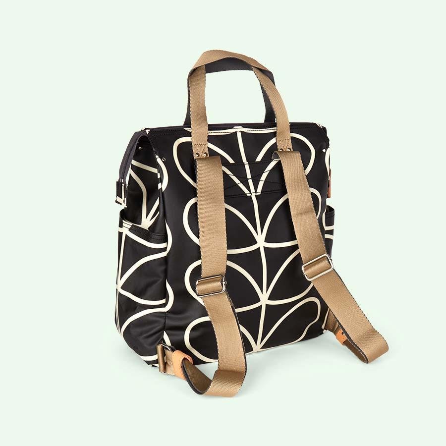 Liquorice Linear Stem Orla Kiely Backpack Baby Bag