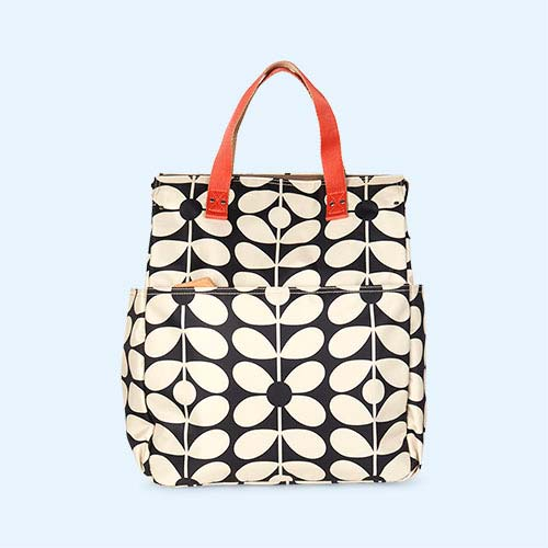 Charcoal Blue Sixties Stem Orla Kiely Backpack Baby Bag
