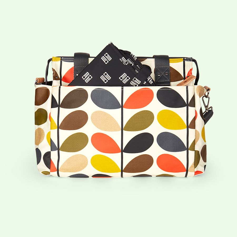 Multi Stem Orla Kiely Zip Messenger Baby Bag