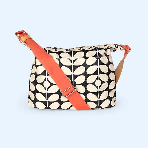 Charcoal Blue Sixties Stem Orla Kiely Sling Baby Bag