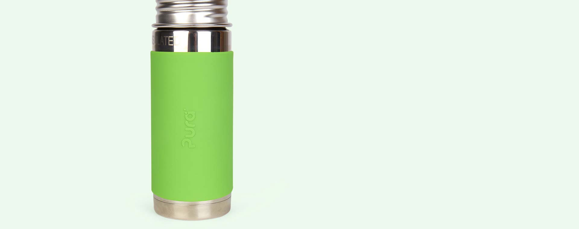 Green Pura 9oz Insulated Straw Bottle