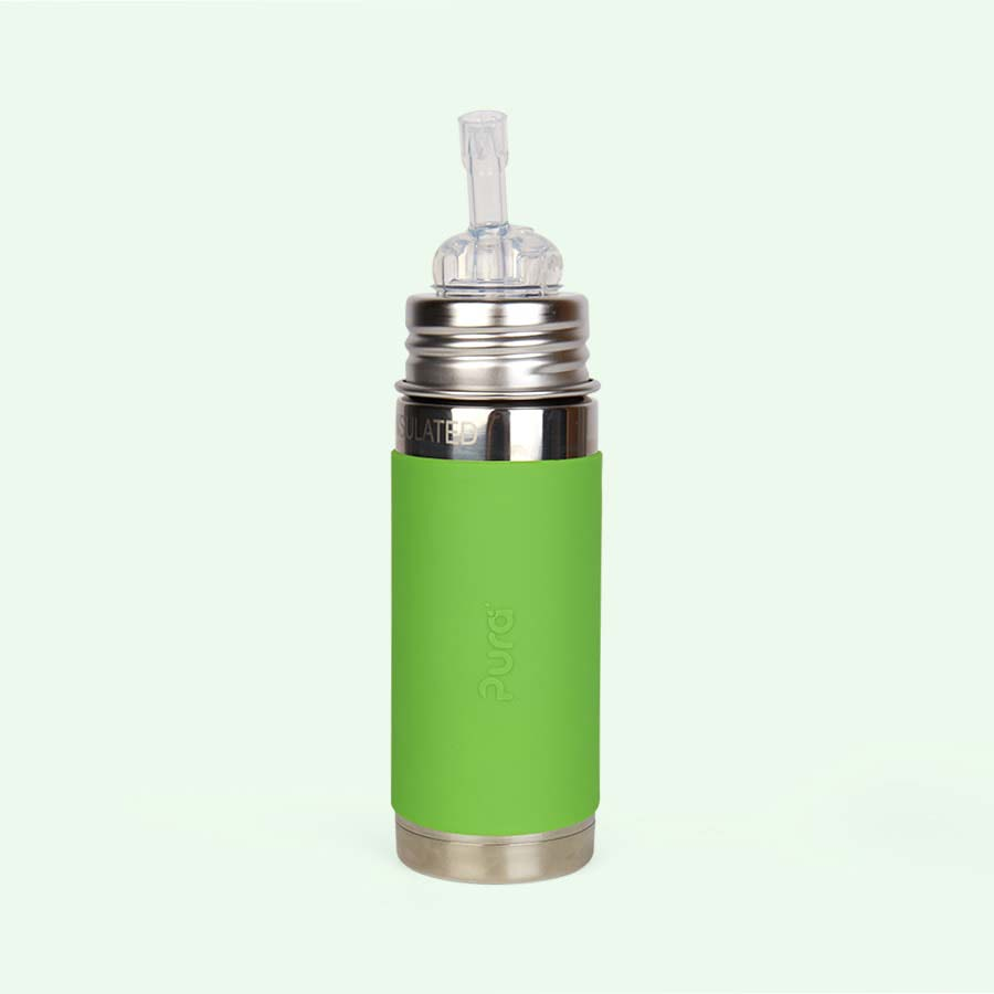 Green Pura 9oz Insulated Straw Bottle