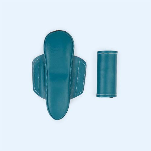 Teal TRYBIKE Seat And Safety Pad Set
