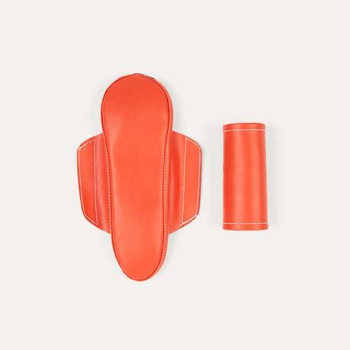 Orange TRYBIKE Seat And Safety Pad Set