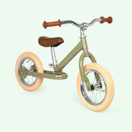 Green Vintage TRYBIKE Steel 2-in-1 Bike