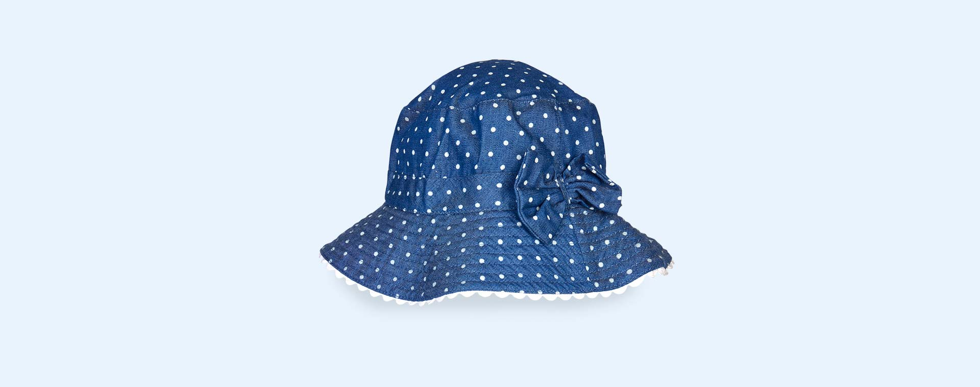 Chambray Dot Banz Bubzee Sun Hat