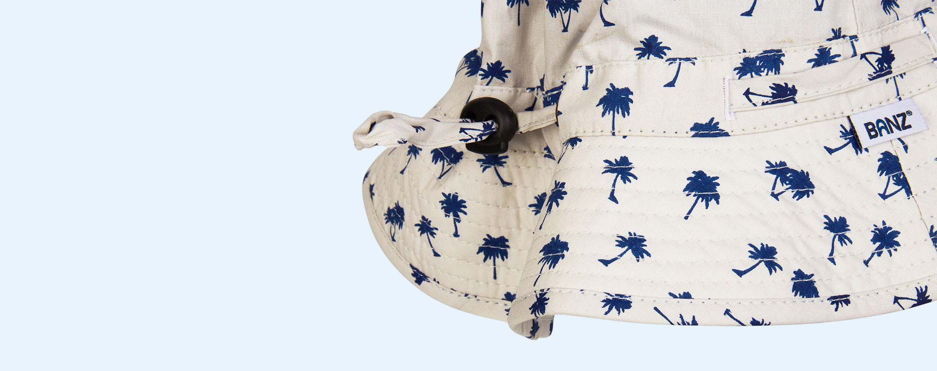 Dark Blue Palm Tree Banz Bubzee Sun Hat