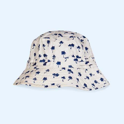 Dark Blue Palm Tree Banz Bubzee Sun Hat