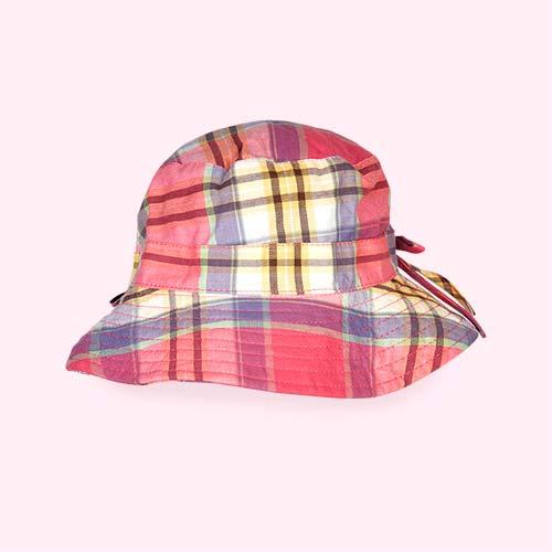 Pink Check Banz Bubzee Sun Hat