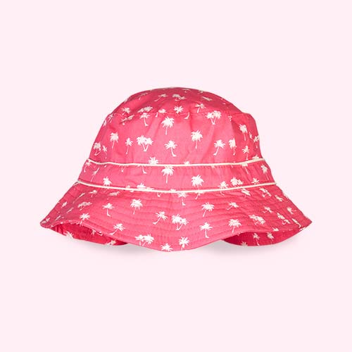 Magenta Palm Tree Banz Bubzee Sun Hat