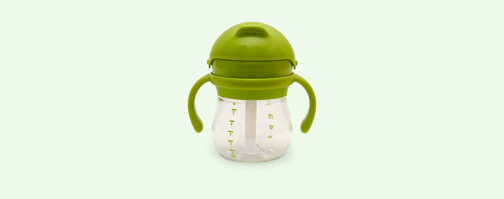 Green Oxo Tot Transitions Straw Cup Set