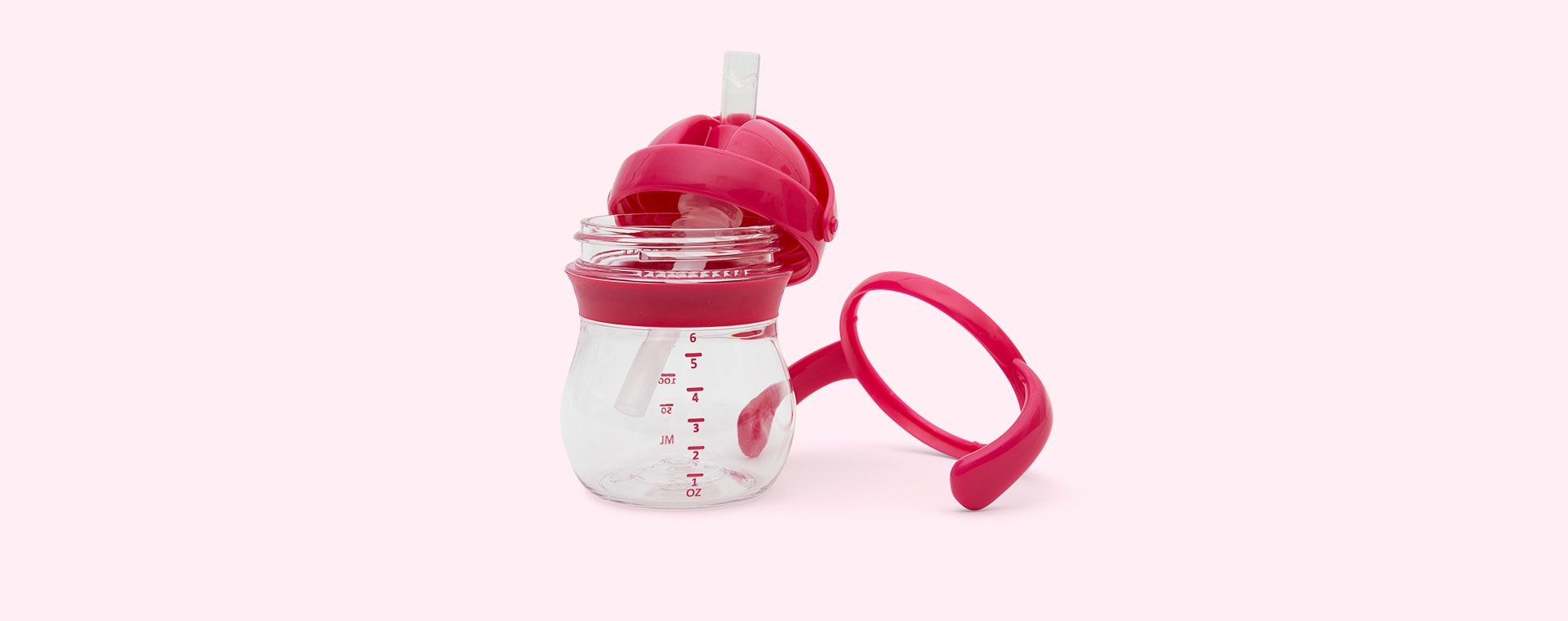 Raspberry Oxo Tot Transitions Straw Cup Set