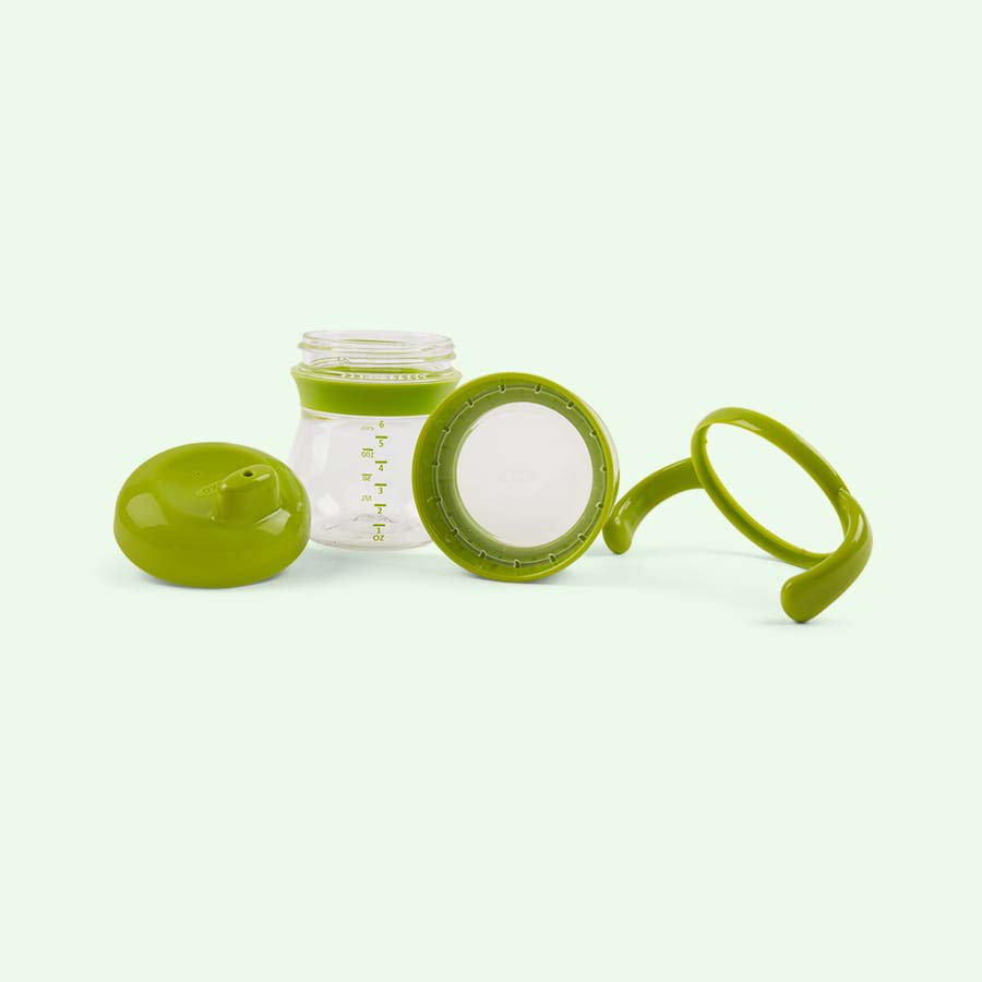 Green Oxo Tot Transitions Hard Spout Sippy Cup Set