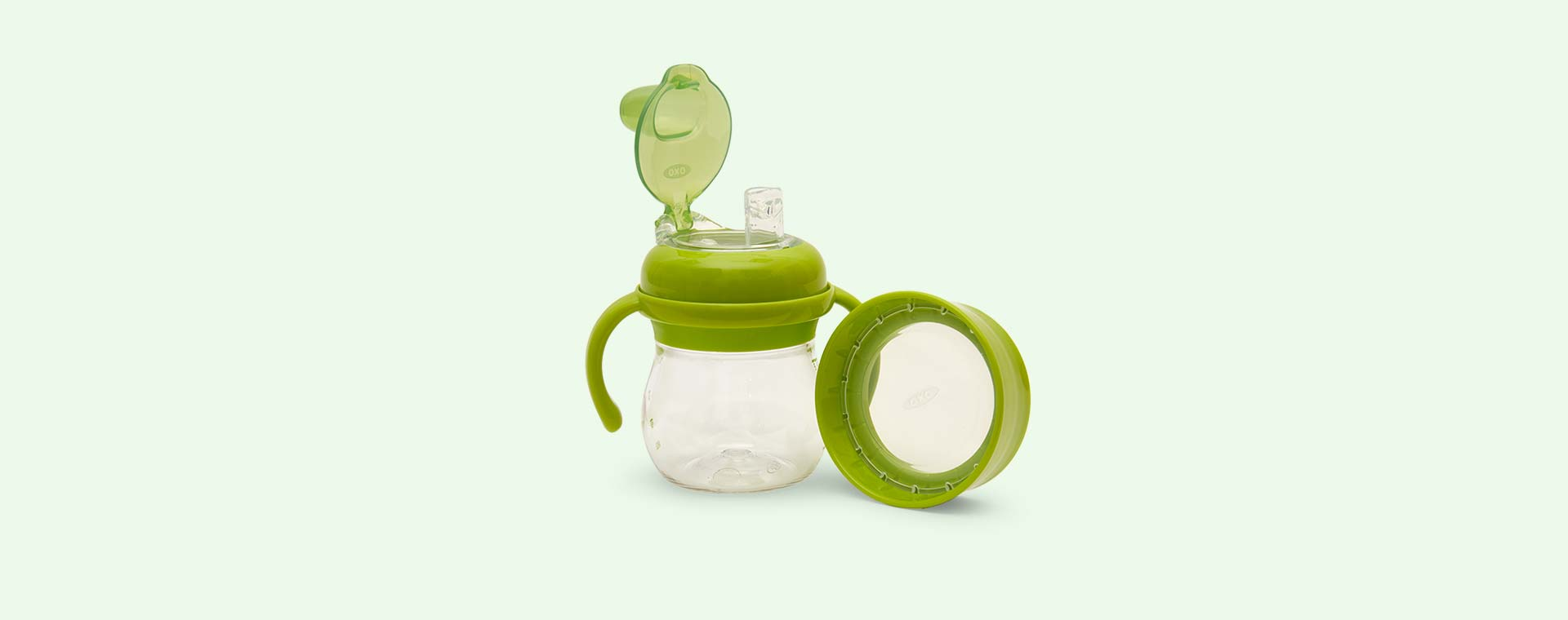 Green Oxo Tot Transitions Soft Spout Sippy Cup Set