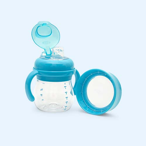 Aqua Oxo Tot Transitions Soft Spout Sippy Cup Set