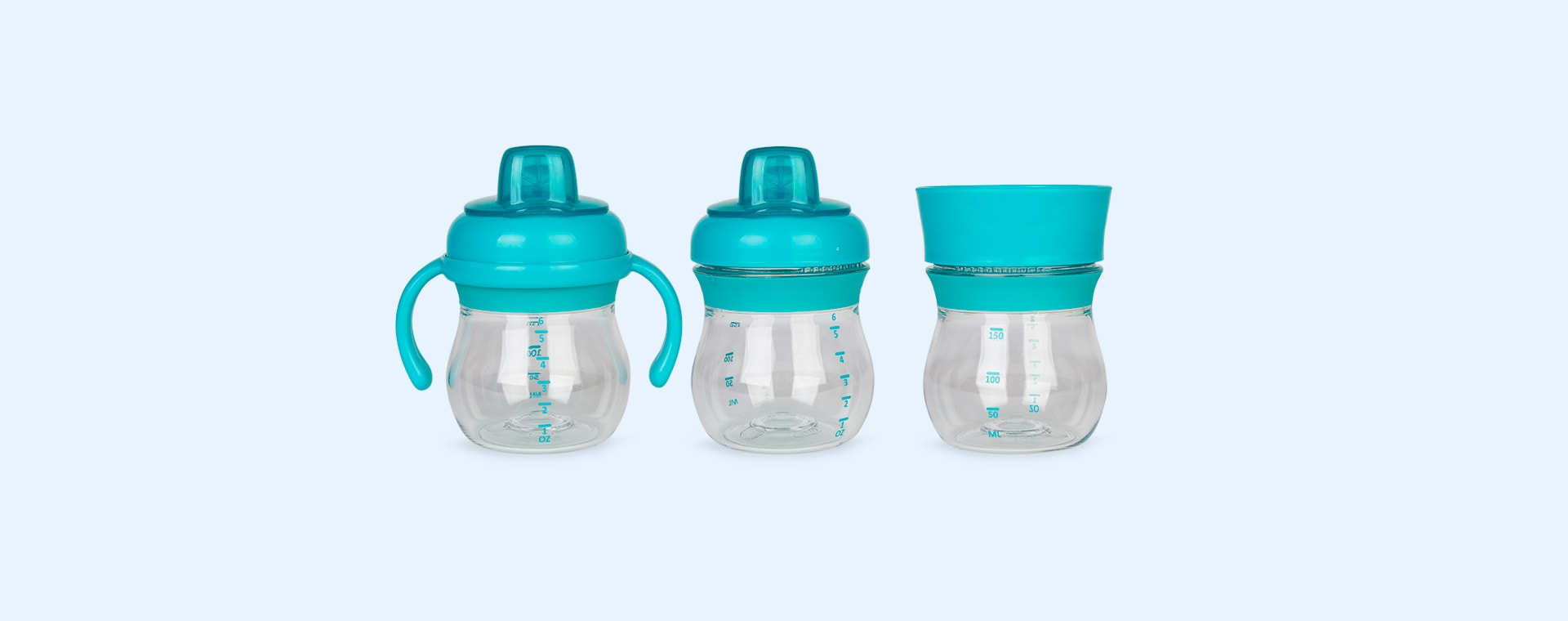 Teal Oxo Tot Transitions Soft Spout Sippy Cup Set