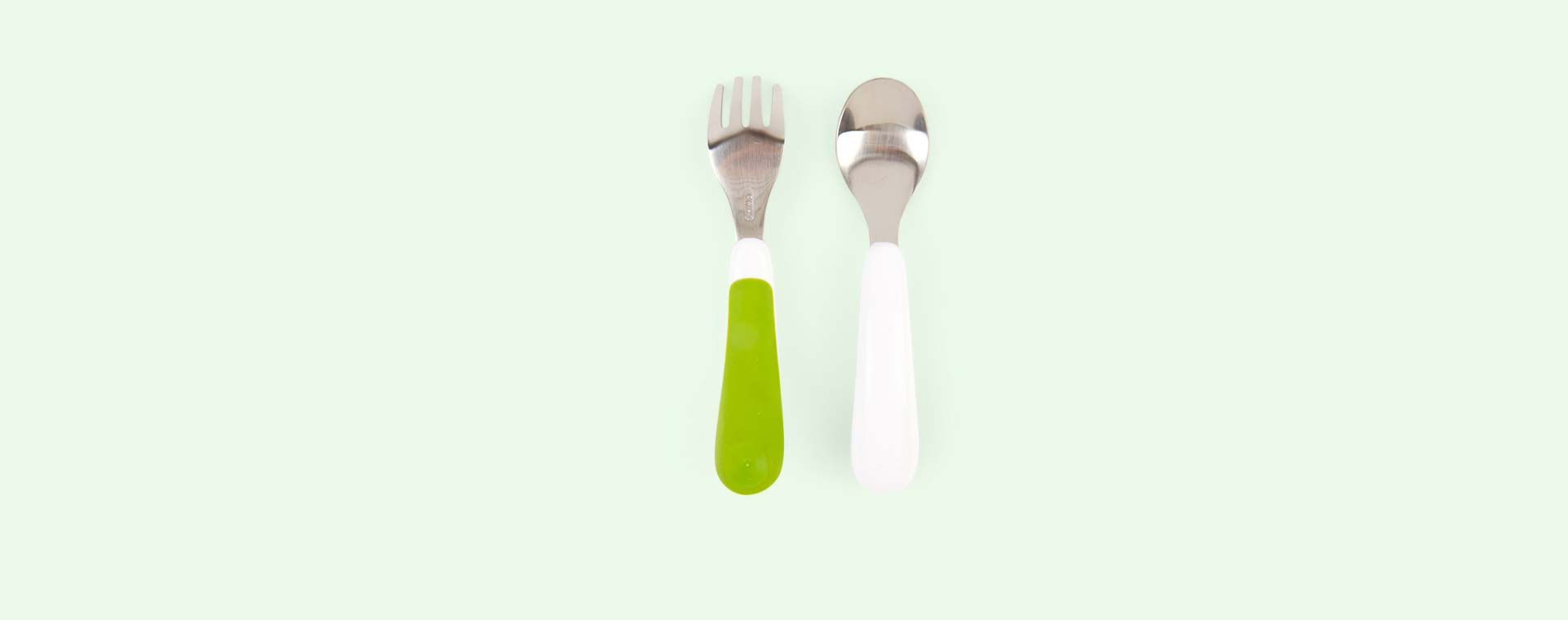 Green Oxo Tot Fork and Spoon Set