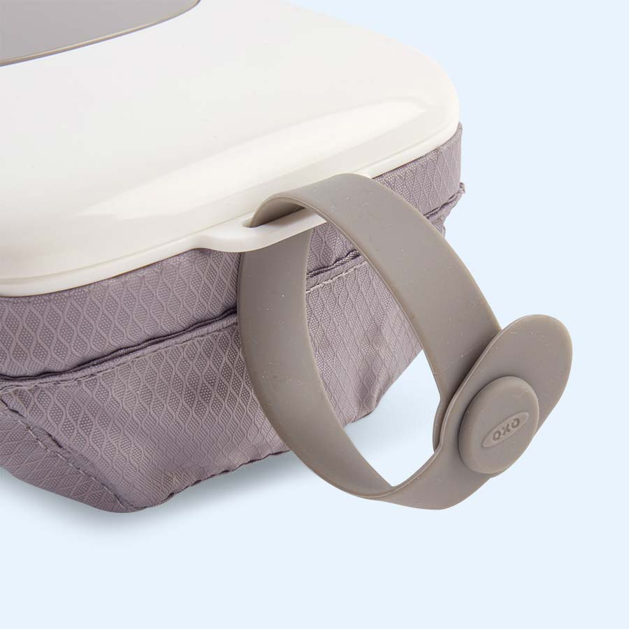 Grey Oxo Tot On-the-Go Wipes Dispenser with Nappy Pouch