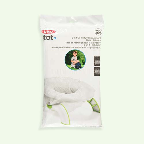 White Oxo Tot 2-In-1 Go Potty Disposable Bags