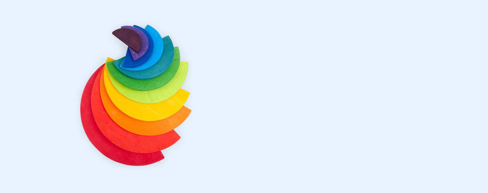 Rainbowcolours Grimm's 11 Piece Large Semicircles