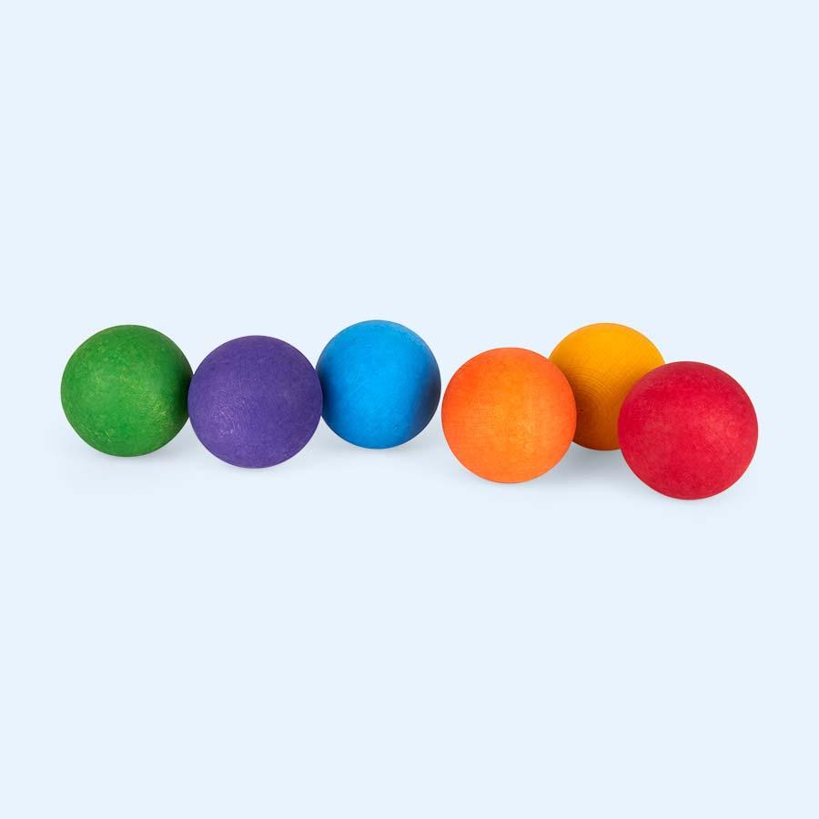 Multi Grimm's 6 Rainbow Wooden Balls