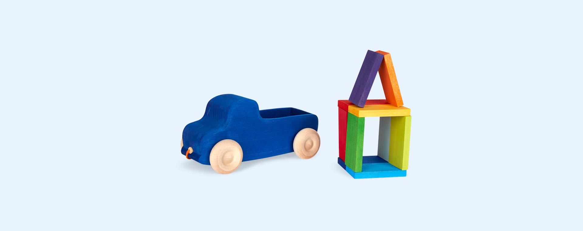 Blue Grimm's Blue Truck Pull Toy