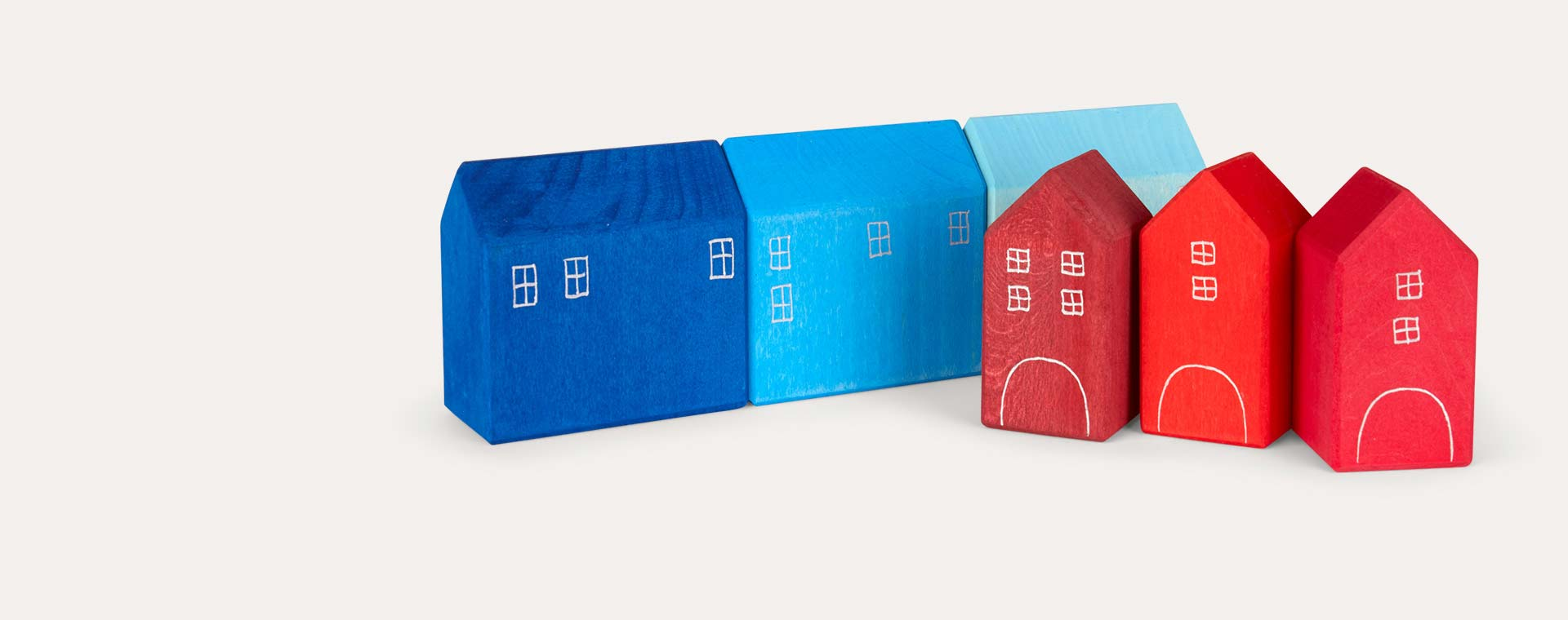 Multi Grimm's Hand Painted Small Houses