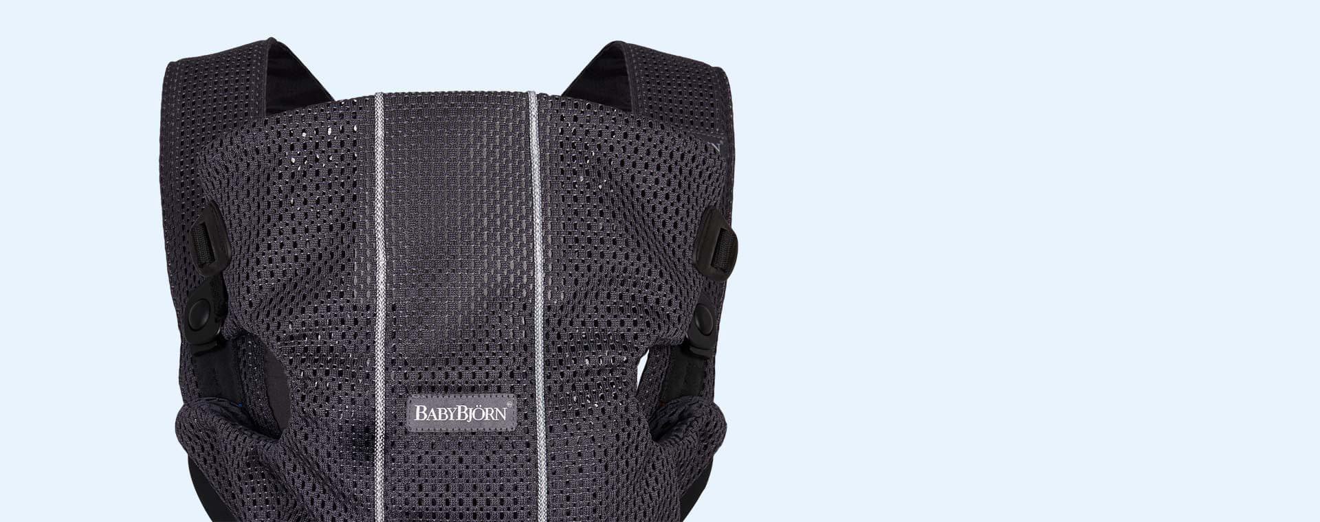 Anthracite BabyBjorn Mini 3D Mesh Carrier
