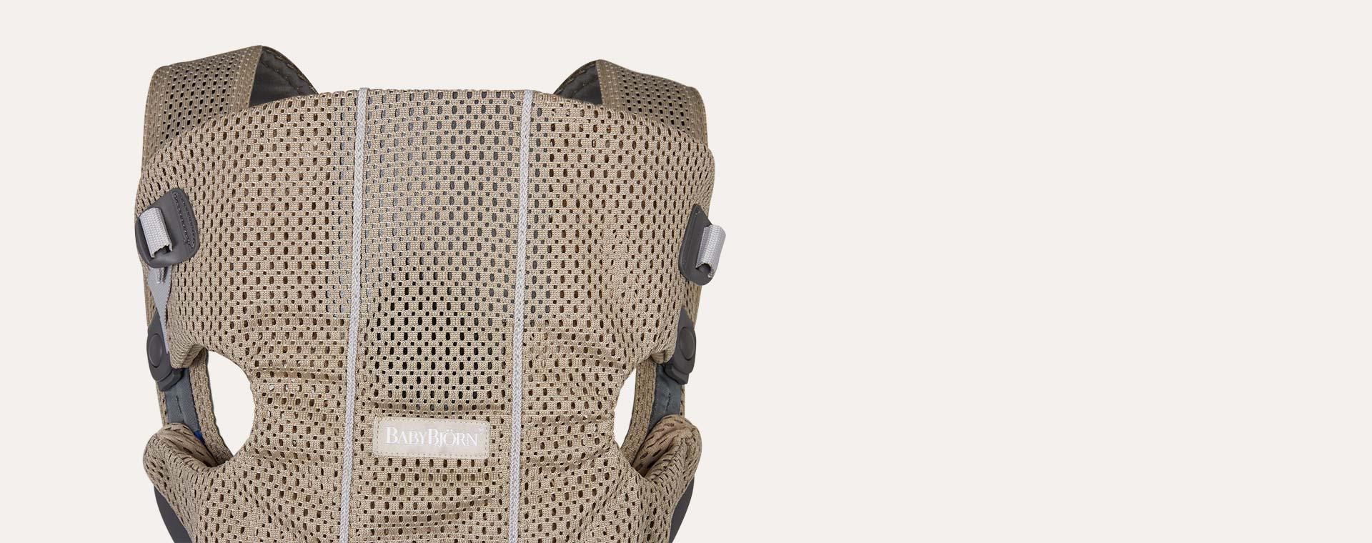 Greige BabyBjorn Mini 3D Mesh Carrier