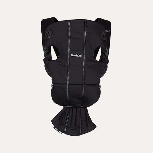 Black BabyBjorn Mini Cotton Carrier