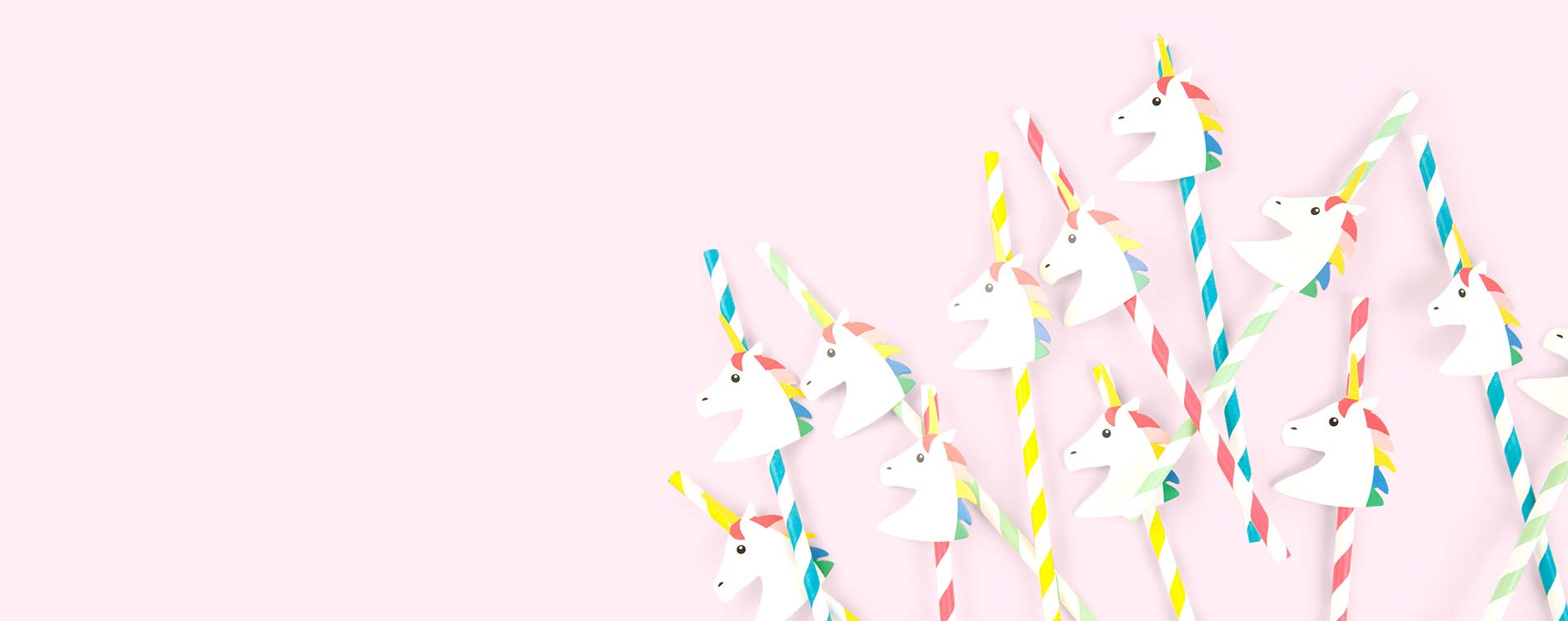Multi My Little Day Unicorn Paper Straws 12 pack