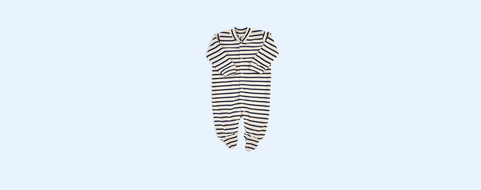 Navy stripe Sleepy Doe Classic Breton Sleepsuit