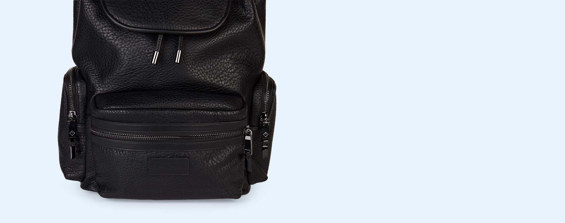 Black Faux Leather Tiba + Marl Kasper Backpack