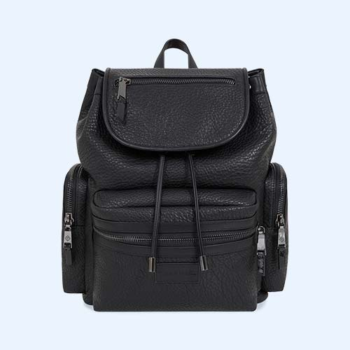 Black Faux Leather Tiba + Marl Kasper Backpack