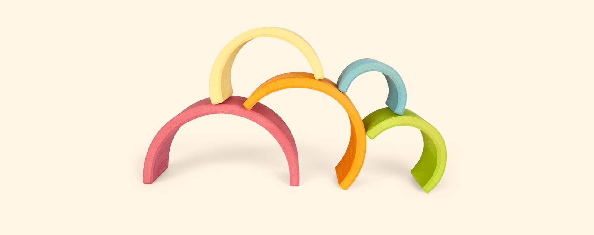 Multi Grimm's 6 Piece Pastel Rainbow