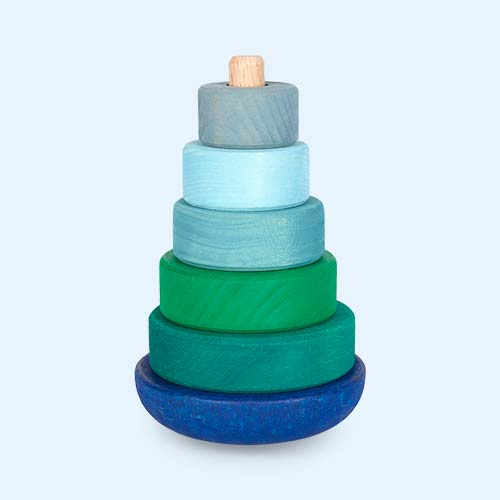 Blue/Green Grimm's Wobbly Stacking Tower