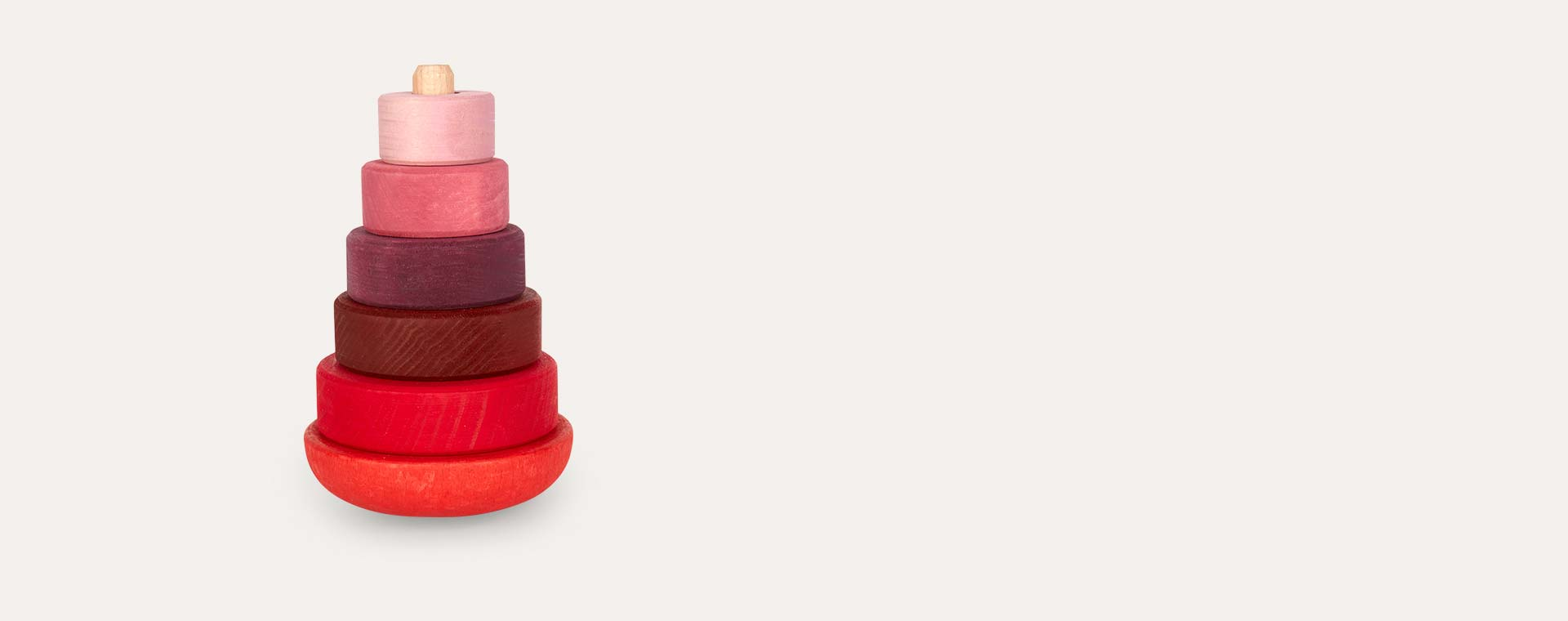 Pink/Red Grimm's Wobbly Stacking Tower