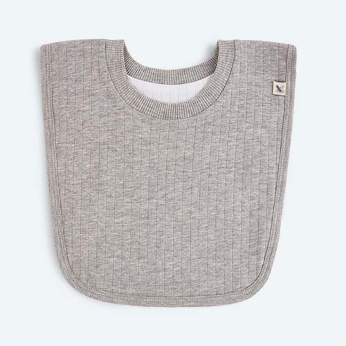 Grey Marl KIDLY Home Reversible Bib
