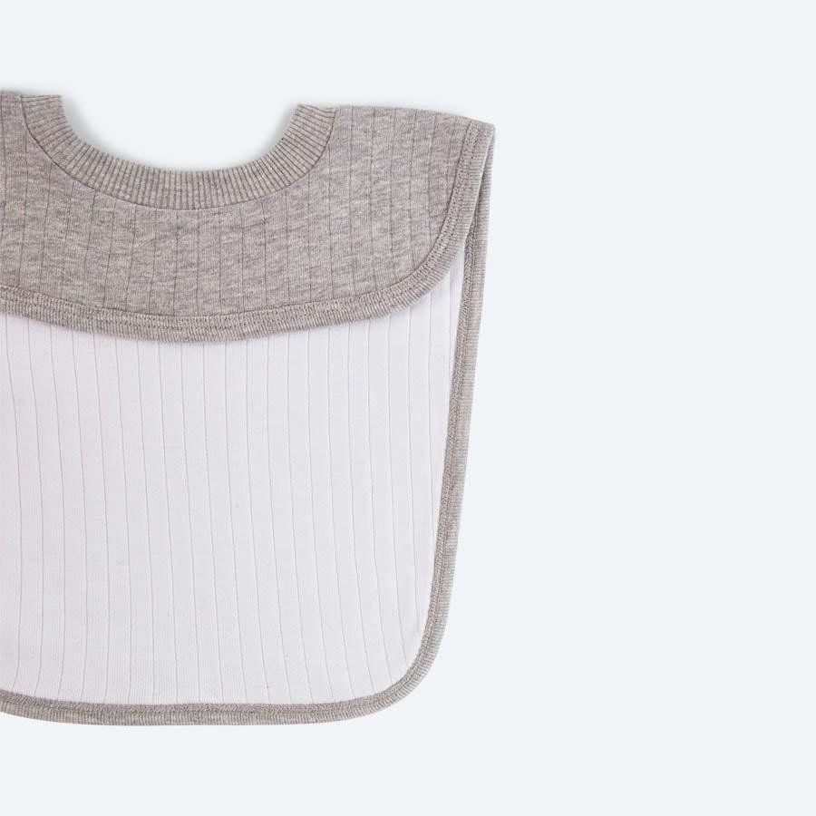 Grey Marl KIDLY Home Reversible Bib