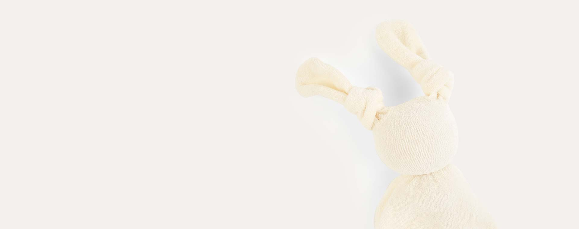 White/White Hoppa Floppy Organic Soother