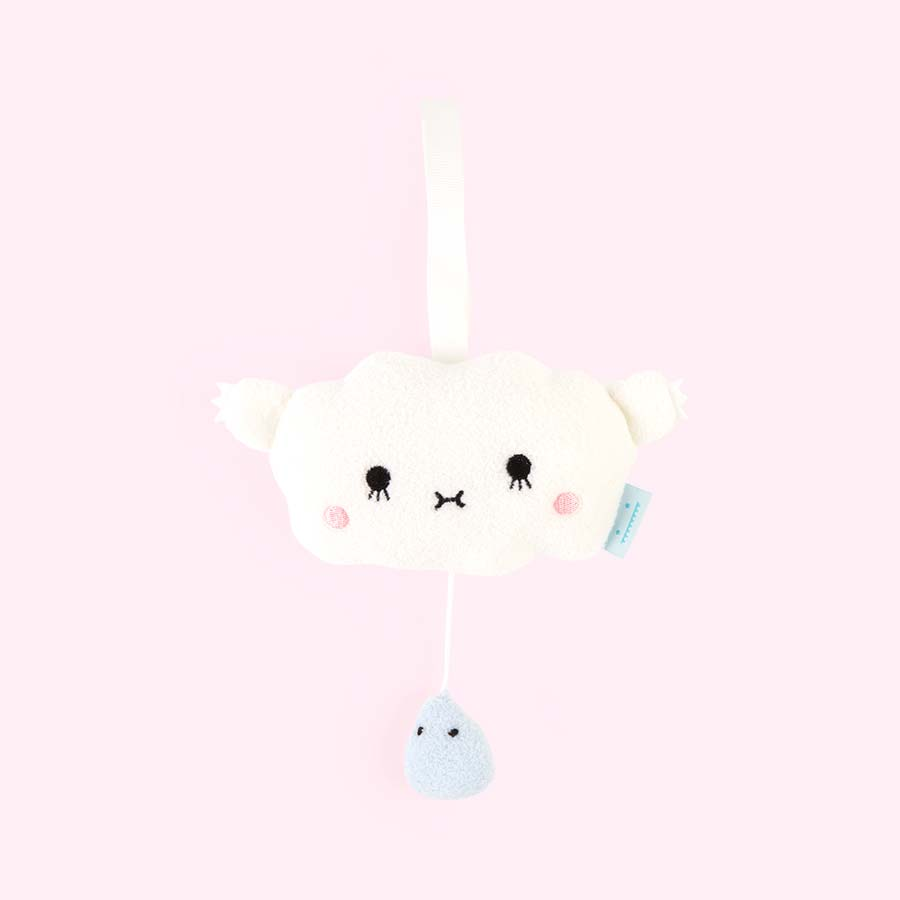 White Noodoll Musical Pull Ricehush Cloud Mobile