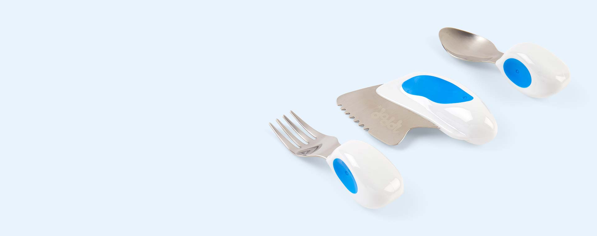 Blue doddl 3 Piece Cutlery Set