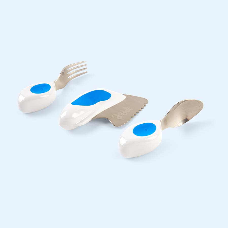 Blue doddl 3 Piece Cutlery Set