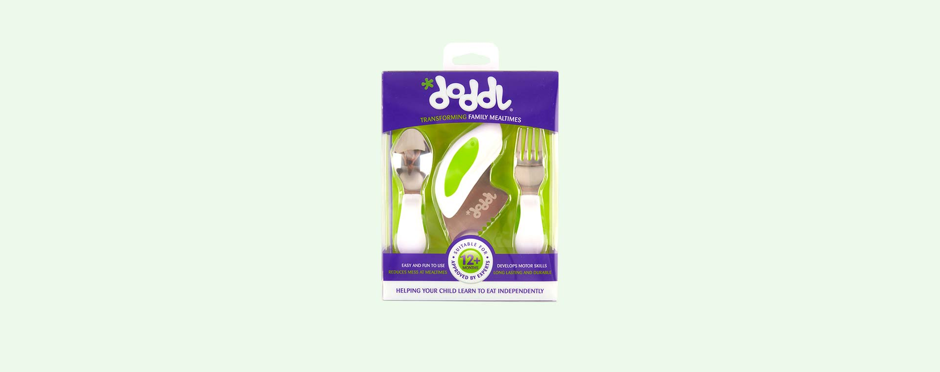 Green doddl 3 Piece Cutlery Set