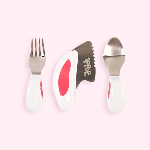 Pink doddl 3 Piece Cutlery Set