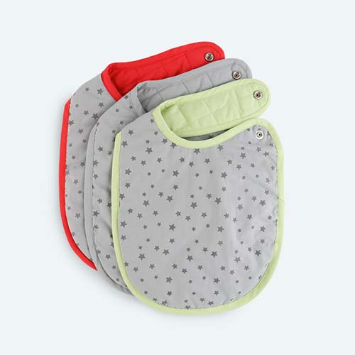 Multi KIDLY Home Quilted Bib - 3 Pack