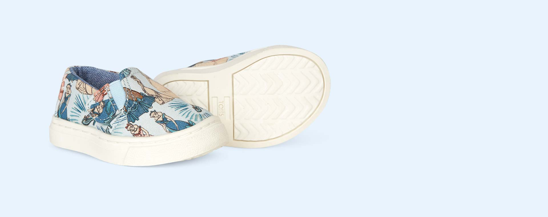 Blue TOMS Disney Cinderella Luca Slip Ons
