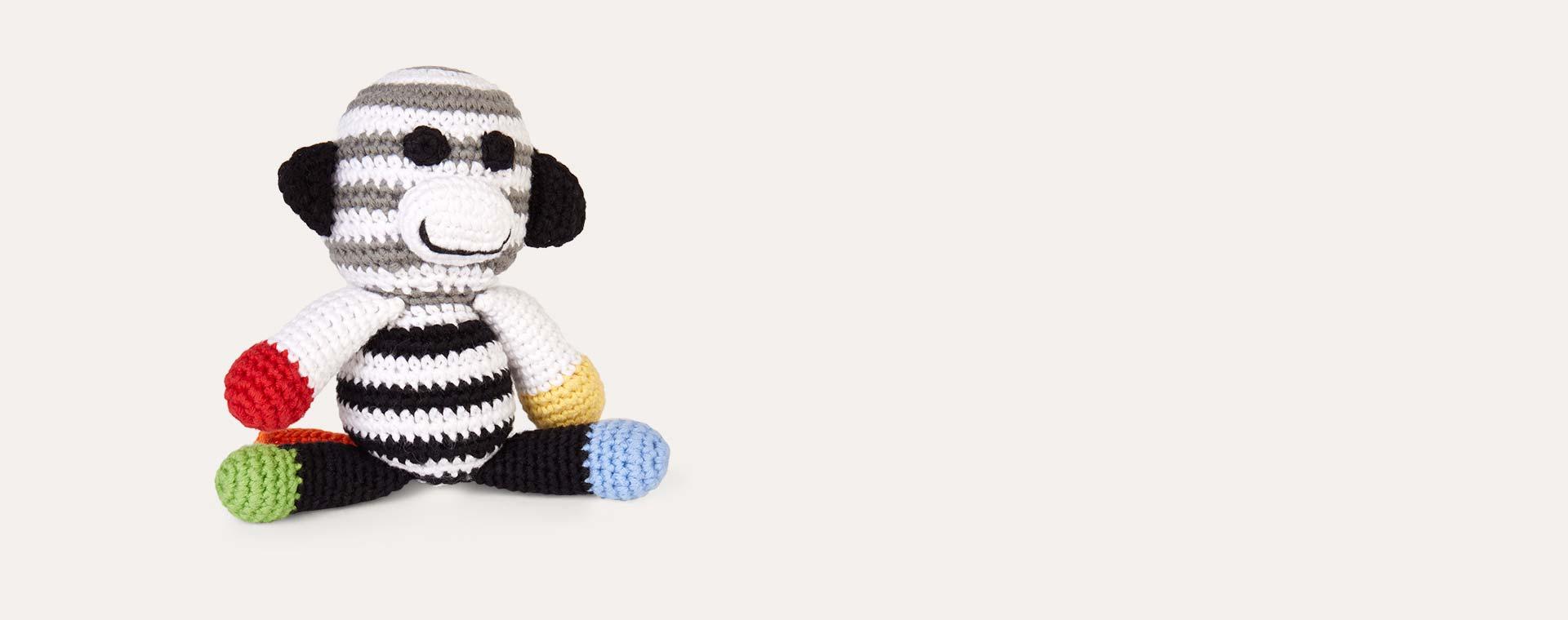 Black Pebble Monkey Rattle