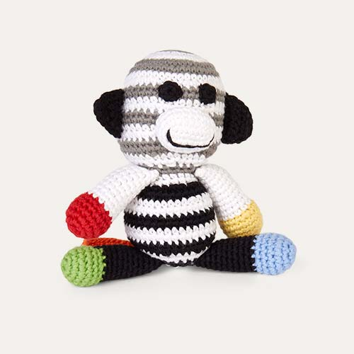 Black Pebble Monkey Rattle