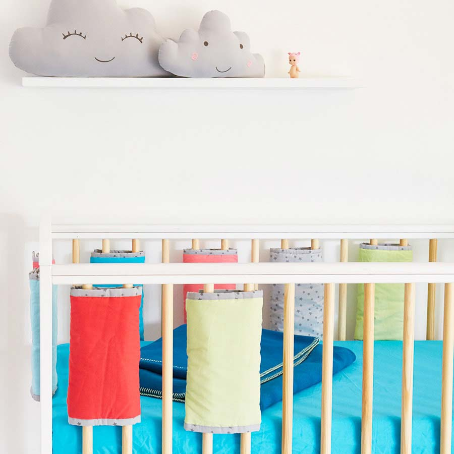 Blue KIDLY Cot Bedding Bundle